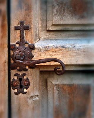 Spanish Mission Door Handle Print by Jill Battaglia