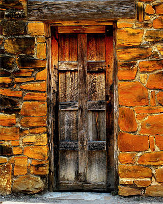 Spanish Mission Door Art Print by Perry Webster