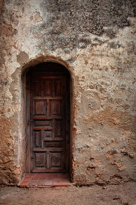 Photograph - Spanish Mission Doorway by David and Carol Kelly