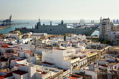 Photograph - Spanish Navy Ship Juan Carlos I Cadiz Spain by Pablo Avanzini