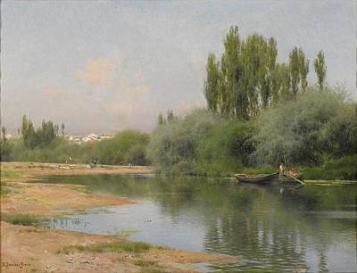 Trees Painting - Spanish On The Guadalquivir by MotionAge Designs