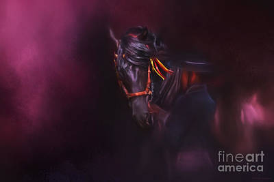 Spanish Passion - Pre Andalusian Stallion Art Print