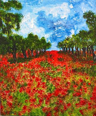 Painting - Spanish Poppies by Valerie Ornstein
