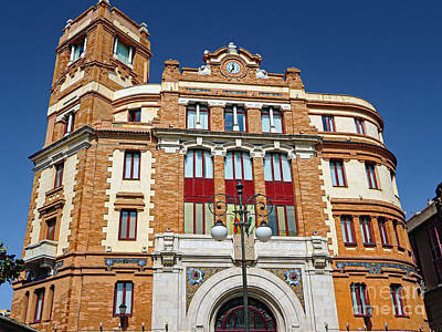 Photograph - Spanish Post Office Building by Sue Melvin