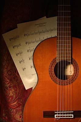 Concert Ukulele Photograph - Flamenco Guitar - Spanish Romance / Spanish Guitar by D S Images
