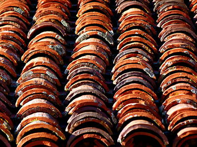 Photograph - Spanish Roof Tiles by Jeff Lowe