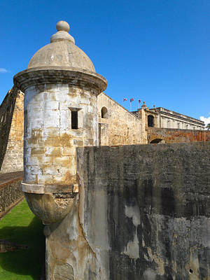 Spanish Sentry Post Of San Cristobal Fort San Juan Puerto Rico Art Print by George Oze
