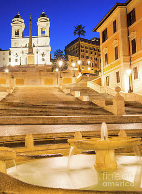 Photograph - Spanish Steps At Dawn by Andrew Michael