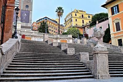 Photograph - Spanish Steps In Rome by Frozen in Time Fine Art Photography