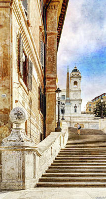 Photograph - Spanish Steps In Rome by Weston Westmoreland
