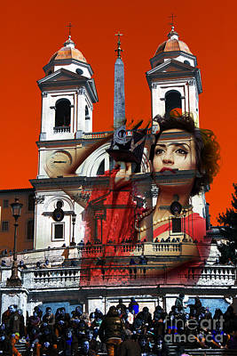 Digital Art - Spanish Steps Photographer by John Rizzuto