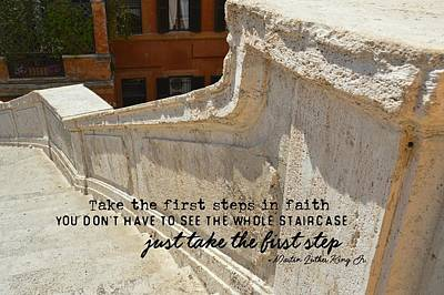Spanish Steps Quote Art Print