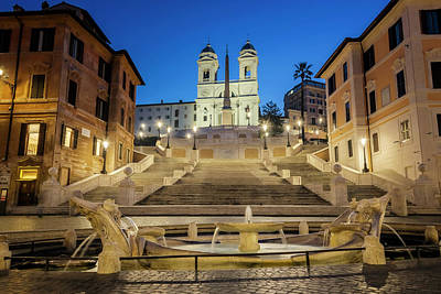 Photograph - Spanish Steps Rome Italy by Joan Carroll