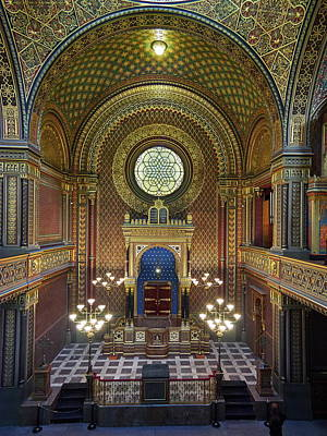 Photograph - Spanish Synagogue. Prague Spring 2017 by Jouko Lehto