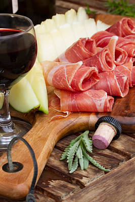 Wooden Platter Photograph - Spanish Tapas by Anastasy Yarmolovich