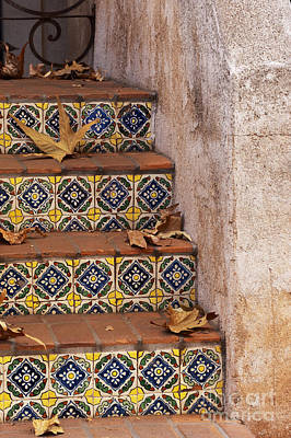 Photograph - Spanish Tile Stair  by Sandra Bronstein