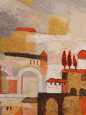 Painting - Spanish Town by Lutz Baar