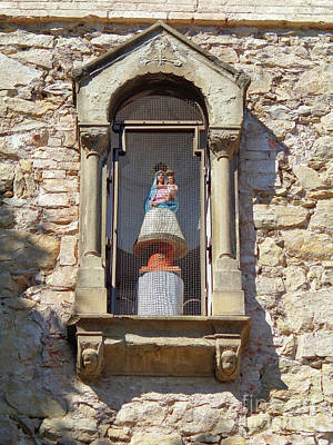 Photograph - Spanish Traditions The Virgin Mary On The Top Of A Textile Factory by Don Pedro De Gracia