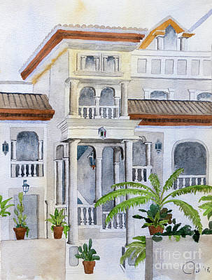 Painting - Spanish Villa by Rod Jones