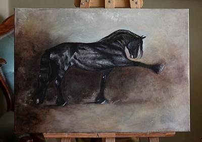 Painting - Spanish Walk By Fresian by Dorota Kudyba