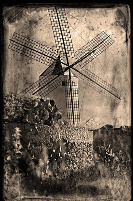 Photograph - Spanish Wind Mill Gruge Style by Pedro Cardona Llambias