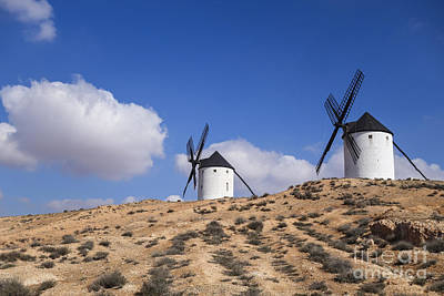 Don Quixote Digital Art - Spanish Windmill Near Tembleque by Perry Van Munster