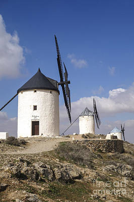 Spanish Windmills In The Province Of Toledo, Art Print by Perry Van Munster