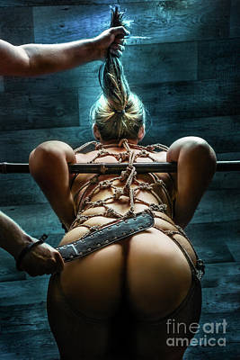 Nude Asian Photograph - Spanking - Fine Art Of Bondage by Rod Meier