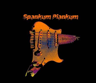 Digital Art - Spankum Plankum by Guitar Wacky
