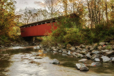 Art Print featuring the photograph Spanning Across The Stream by Dale Kincaid
