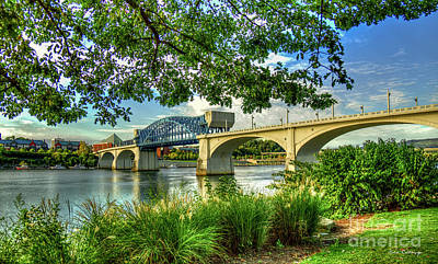 Photograph - Spanning The Tennessee River John Ross Bridge Art by Reid Callaway