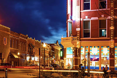 Photograph - Spark Cafe And Downtown Bentonville Skyline by Gregory Ballos