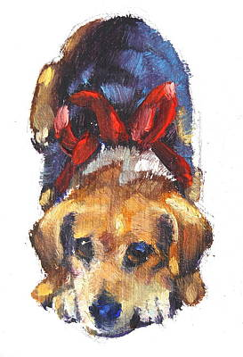 Beagle Dog Painting - Sparkie by Len Stomski