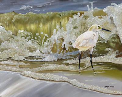 Sparking Snowy Egret Original by Phyllis Beiser