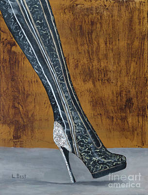Painting - Sparkle Kinky Boot by Laurel Best