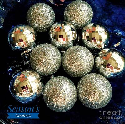 Photograph - Sparkling Baubles Greeting by Joan-Violet Stretch