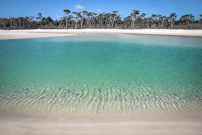 Photograph - Sparkling Beach Lagoon On Deserted Beach by Keiran Lusk