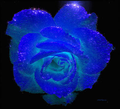Photograph - Sparkling Blue Rose - Painted by Ericamaxine Price