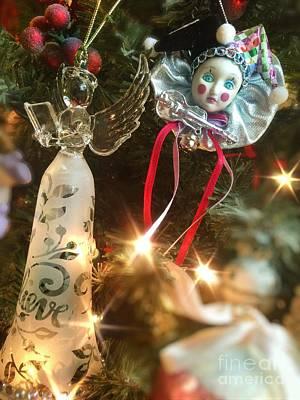 Sparkling Christmas Tree Art Print
