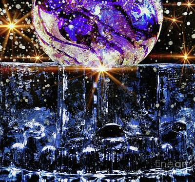 Mixed Media - Sparkling Glass by Jolanta Anna Karolska
