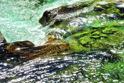 Photograph - Sparkling Green River Falling by Kirsten Giving