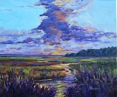 Sparkling Marsh Art Print by Beth Maddox