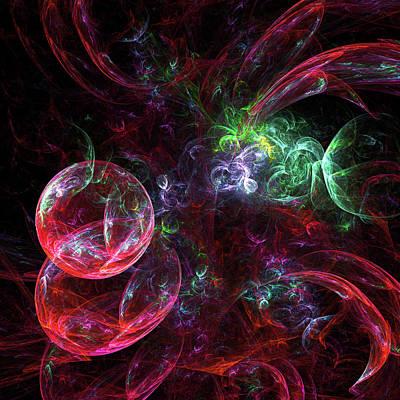 Digital Art - Sparkling Red Abstract by Georgiana Romanovna
