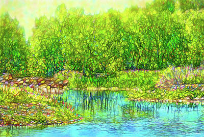 Digital Art - Sparkling Reflection Pond - Lake In Boulder County Colorado by Joel Bruce Wallach