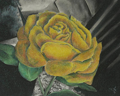 Painting - Sparkling Rose by Miriam Shaw