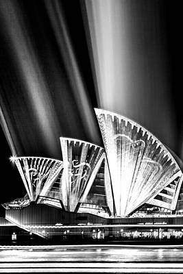 Night Time Photograph - Sparkling Blades Bw by Az Jackson