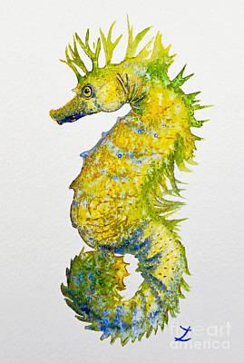 Painting - Sparkling Seahorse by Zaira Dzhaubaeva