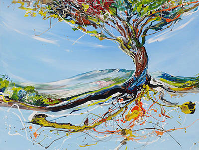 Tree Roots Painting - Sparkling Tree by Piero Manrique