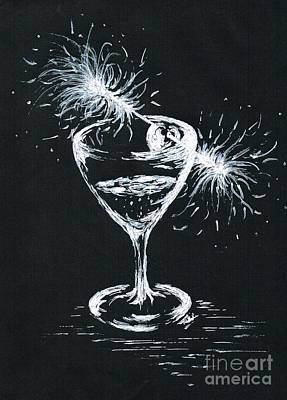 Sparkling Wines Drawing - Sparkling Wine  by Teresa White