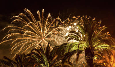 Photograph - Sparkly New Years Fireworks by Bonnie Follett